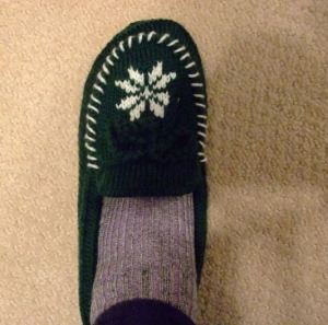 moccasiin with loop stitch at toe