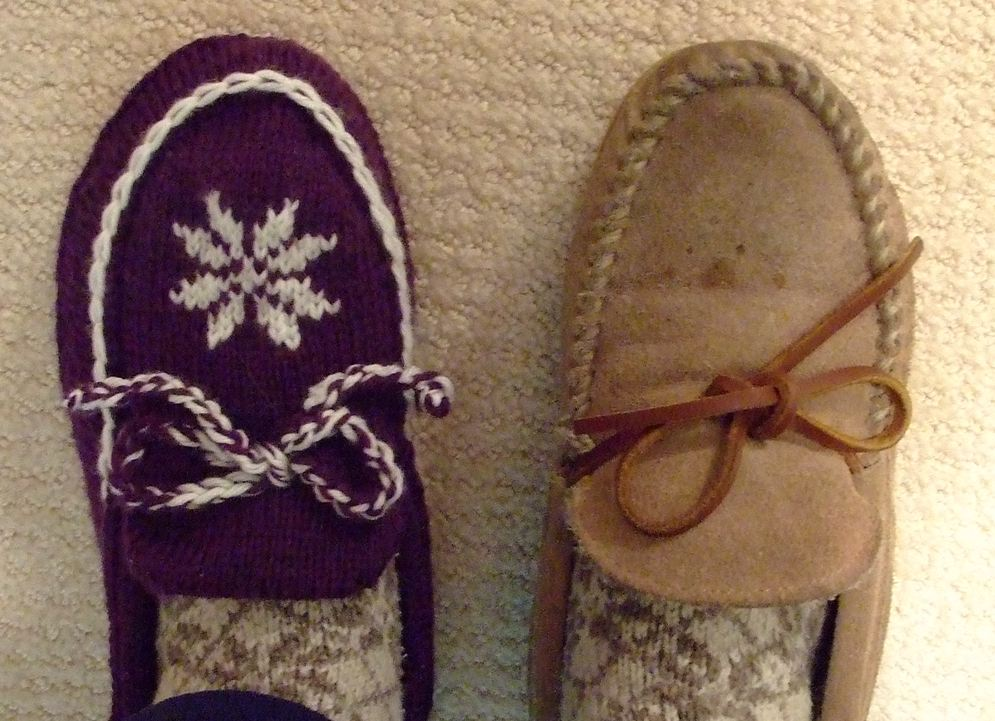 Short Row Moccasin Slipper Creative Knitting - Beyond ...