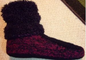 felted slipper with leg warmer cuf 2 f