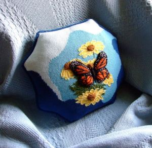 butterfly pillow - the finished product