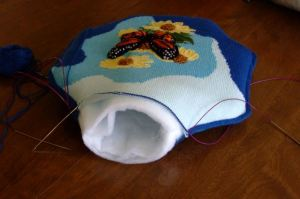 buttterfly pillow - ready to fill