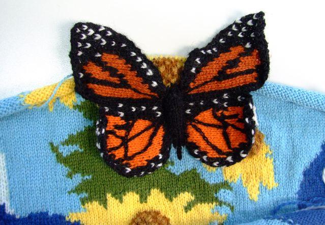 Knit Butterfly Pattern : knitting embellishments Creative Knitting - Beyond Knit ...