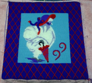 ms red hat silkie pillow top