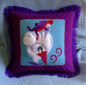 ms slikie - red hat pillow