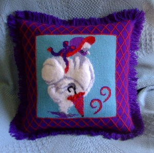 ms slikie - red hat pillow