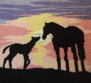 equine sunset - s