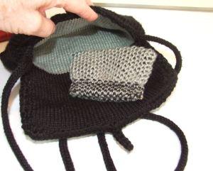 black hand bag- lining