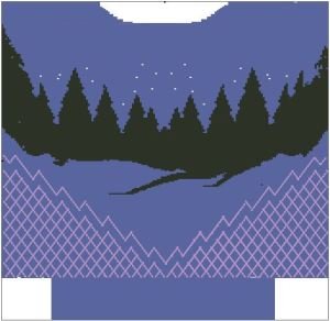 northern lights sweater back
