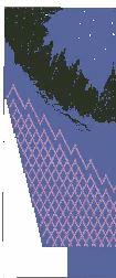 northern lights sweater sleeve, one half