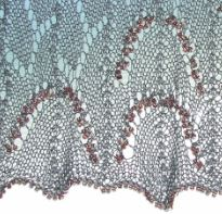 lace curtain, beads for nubbs 3