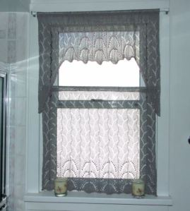 lace curtain finished