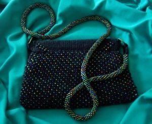 beaded purse finished