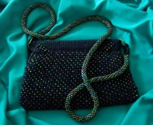 beaded purse finished
