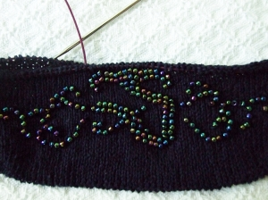 bead evening bag flap 2