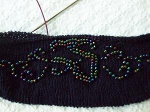 bead evening bag flap 2