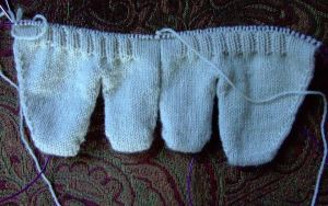 waynes socks on two needles